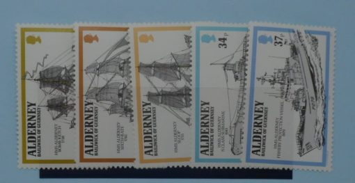 Alderney Stamps, 1990, SGA42-A46, Mint 3