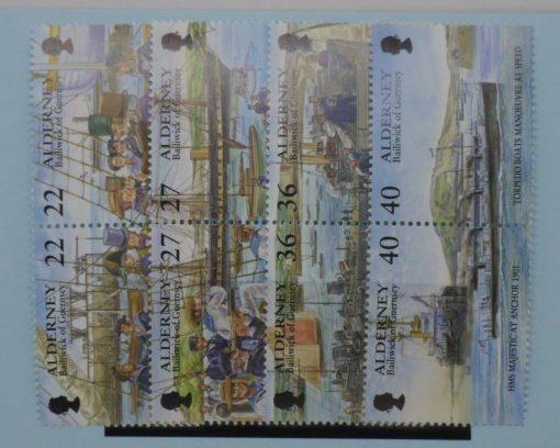Alderney Stamps, 2001, SGA176a, A178a, A180a, A182a, Mint 3
