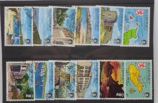 Alderney Stamps, 1983, SGA1-A12, Used 3
