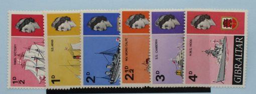 Gibraltar Stamps, 1967-69, SG200-205, Mint 3