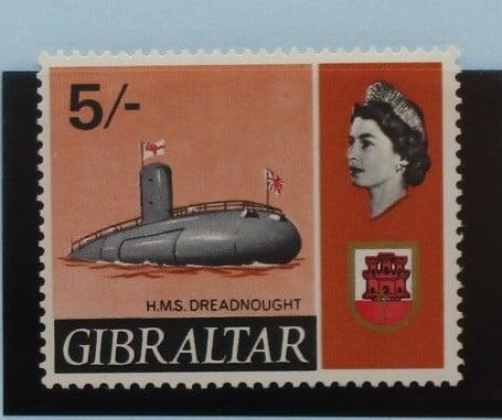 Gibraltar Stamps, 1967-69, SG211, Mint 3