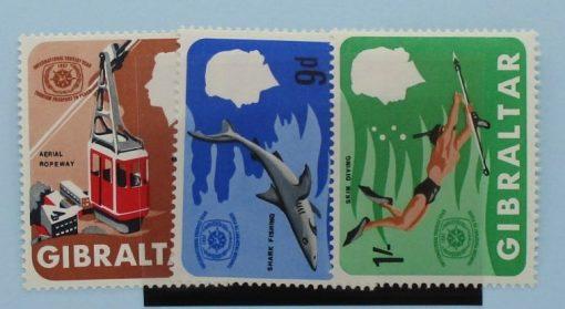 Gibraltar Stamps, 1967, SG214-216, Mint 3