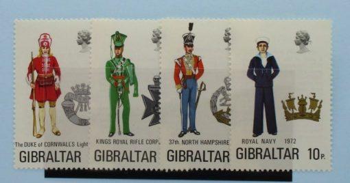Gibraltar Stamps, 1972, SG300-303, Mint 3