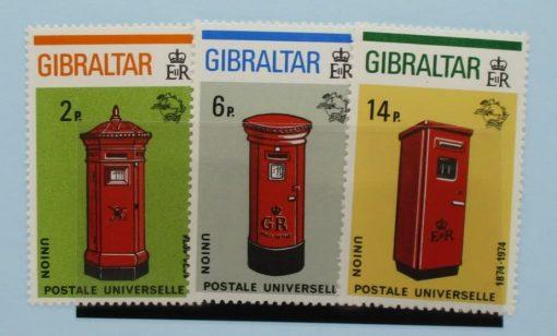 Gibraltar Stamps, 1974, SG325-327, Mint 3
