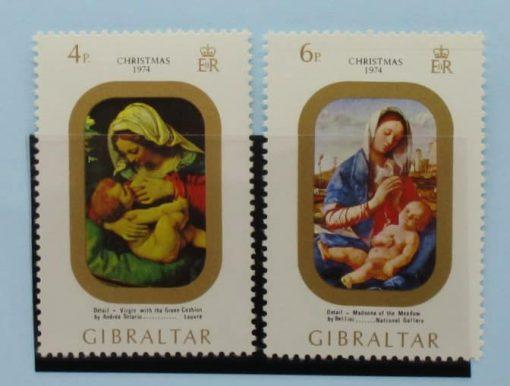 Gibraltar Stamps, 1974, SG335-336, Mint 3