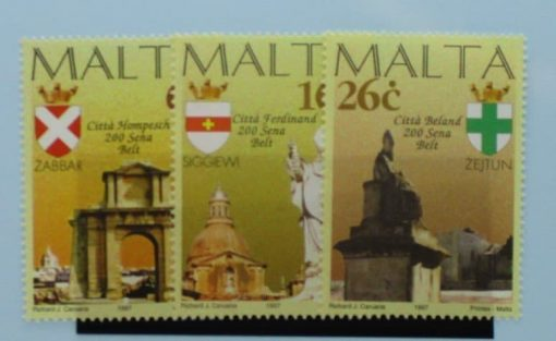 Malta Stamps, 1997, SG1038-1040, Mint 3