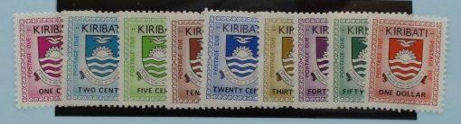 Kiribati Stamps, 1981, D1-D9, Mint 2