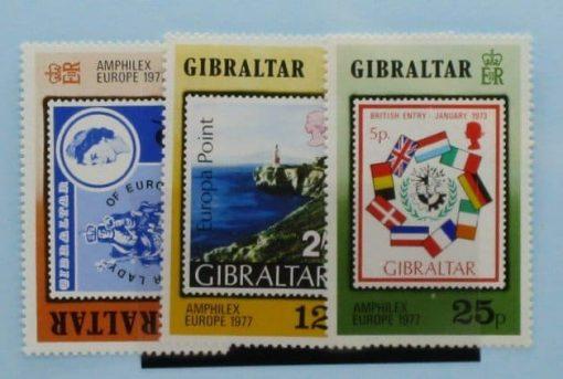 Gibraltar Stamps, 1977, SG390-392, Mint 3