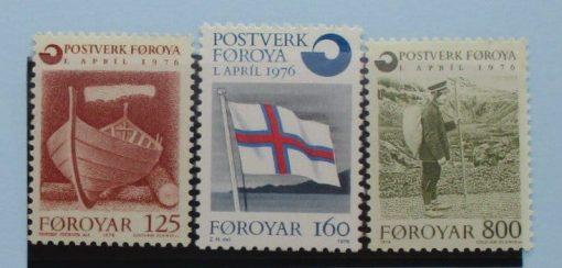 Faroe Islands Stamps, 1976, SG20-22, Mint 2