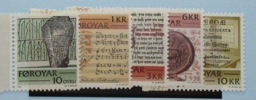 Faroe Islands Stamps, 1981, SG64-68, Mint 3