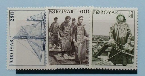 Faroe Islands Stamps, 1984, SG100-102, Mint 3
