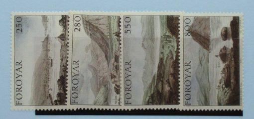 Faroe Islands Stamps, 1985, SG109-112, Mint 3