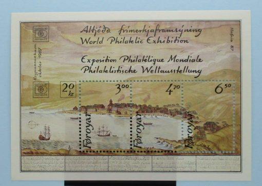 Faroe Islands Stamps, 1986, MS136, Mint 3