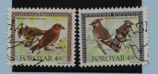Faroe Islands Stamps, 1996, Birds, SG292-293, Used 3