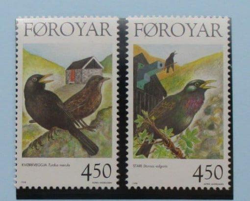 Faroe Islands Stamps, 1998, SG336-337, Mint 3