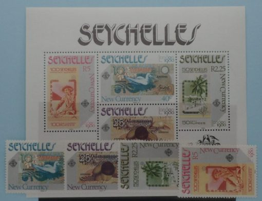 Seychelles Stamps, 1980, SG468-471, MS472, Mint 2