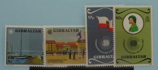 Gibraltar Stamps, 1983, SG487-490, Mint 3
