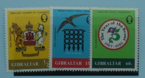 Gibraltar Stamps, 1982, SG481-483, Mint 3
