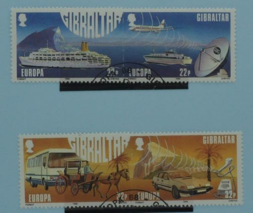 Gibraltar Stamps, 1988, SG588a, SG590a, Used 3
