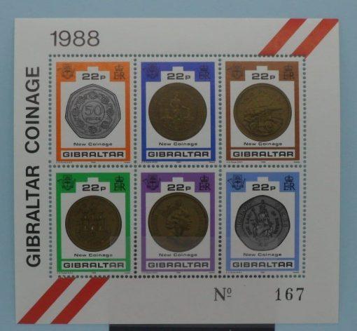 Gibraltar Stamps, 1989, MS621, Mint 3