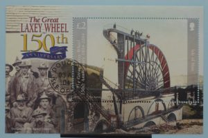 Isle of Man Stamps featuring the Laxey Wheel 2
