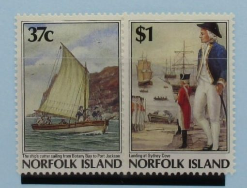 Norfolk Islands Stamps, 1988, SG436-437, Mint 3
