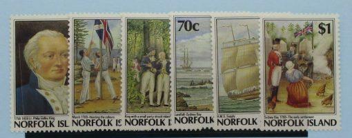 Norfolk Islands Stamps, 1988, SG438-443, Mint 3