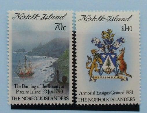 Norfolk Islands Stamps, 1990, SG477-478, Mint 3