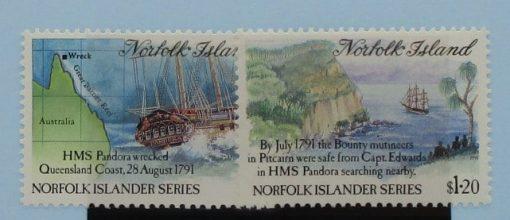 Norfolk Islands Stamps, 1991, SG516-517, Mint 3