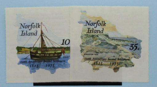 Norfolk Islands Stamps, 1975, SG163-164, Mint 3