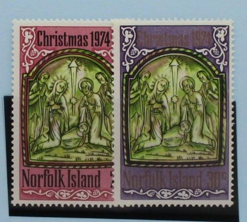 Norfolk Islands Stamps, 1974, SG156-157, Mint 3