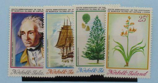 Norfolk Islands Stamps, 1974, SG152-155, Mint 3