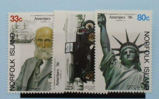 Norfolk Islands Stamps, 1986, SG385-387, Mint 3