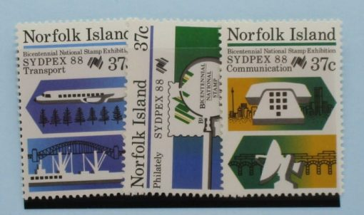 Norfolk Islands Stamps, 1988, SG444-446, Mint 3