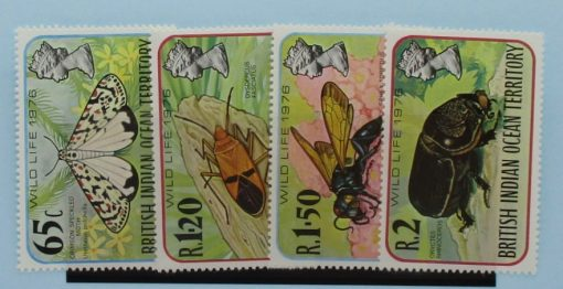 British Indian Ocean Territory Stamps, 1976, SG86-89, Mint 3
