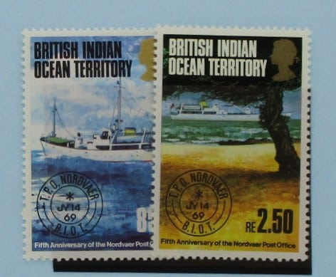 British Indian Ocean Territory Stamps, 1974, SG56-57, Mint 3