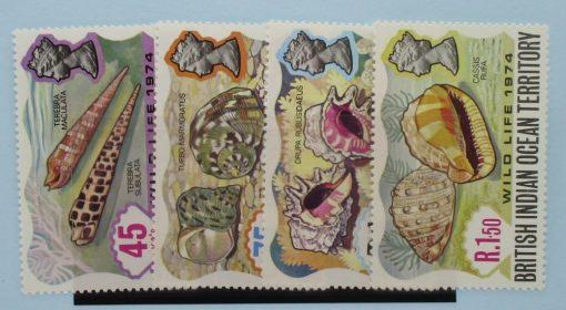 British Indian Ocean Territory Stamps, 1974, SG58-61, Mint 3