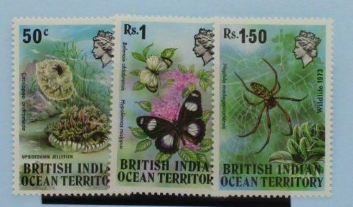 British Indian Ocean Territory Stamps, 1973, SG53-55, Mint 3