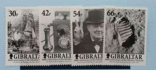 Gibraltar Stamps, 2001, SG978-981, Mint 3