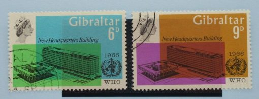 Gibraltar Stamps, 1966, SG193-194, Used 3