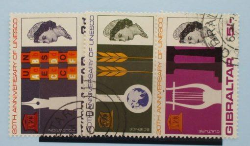 Gibraltar Stamps, 1966, SG196-198, Used 3