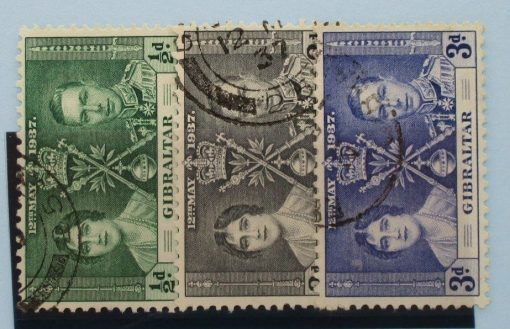 Gibraltar Stamps, 1937, SG118-120, Used 3