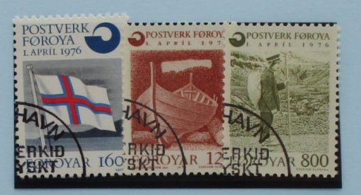 Faroe Islands Stamps, 1976, SG20-22, Used 3