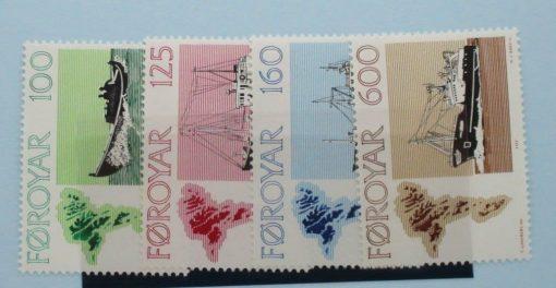 Faroe Islands Stamps, 1977, SG23-26, Mint 3