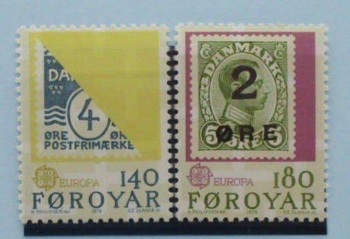 Faroe Islands Stamps, 1979, SG42-43, Mint 3