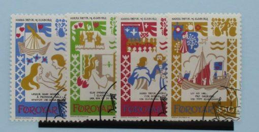 Faroe Islands Stamps, 1982, SG74-77, Used 3