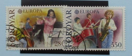 Faroe Islands Stamps, 1985, SG113-114, Used 3