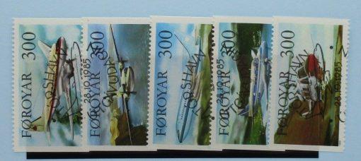 Faroe Islands Stamps, 1985, SG122-126, Used 3