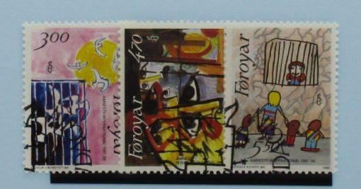 Faroe Islands Stamps, 1986, SG133-135, Used 3