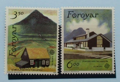 Faroe Islands Stamps, 1990, SG193-194, Mint 3